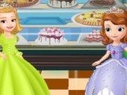 Amber si Sofia mananca prajituri