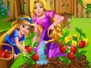 Rapunzel planteaza si culege legume