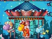 De decoorat caruselul din parcul de distractii