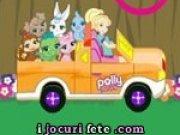 Joc cu animale si masina lui Polly Pocket
