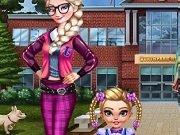 Elsa la scoala Dressup