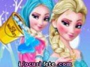 Elsa din Frozen si galeata cu gheata