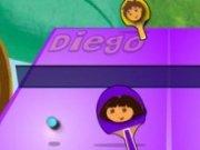 Dora si Diego joaca ping pong