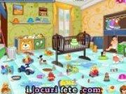Joc de facut curatenie in camera bebelusului