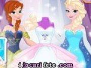 Joc de proiectat si cusut rochii de mireasa cu printesele Frozen