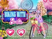 Barbie la plimbare cu bicicleta