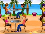 Lucreza ca chelner in restaurantul de pe plaja