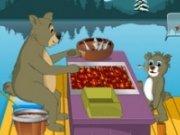 Ursul pescuieste pesti