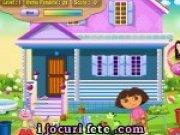 Dora face curatenie in toata casa