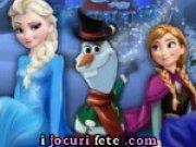Elsa si Anna il construiesc pe Olaf
