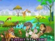 Joc cu decoratii animale in jungla