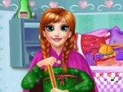 Anna din Frozen face curatenie