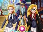 Rapunzel si Elsa la scoala de Magie