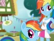 Poneiul Rainbow VS fetita ponei