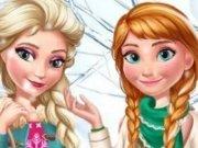 Elsa si Anna Moda de iarna