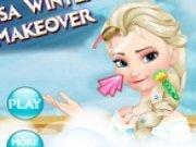 Elsa machiaj Frozen de iarna