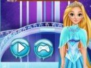 Rapunzel in Regatul de Gheata a lui Elsa