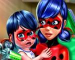 Buburuza Miraculoasa si fetita ei la doctor pentru vaccinare