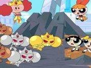Fetitele Powerpuff si roboții prințesei