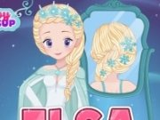Impleteste parul lui Elsa de nunta