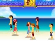 Joc de sarutat baieti pe plaja