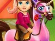 Barbie ingrijeste poneiul