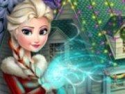 Elsa Decoreaza castelul Frozen