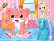 Elsa ingrijeste un pui de tigru