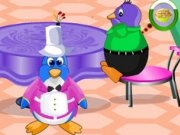 Serveste masa pinguinilor