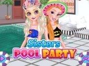 Elsa și Anna petrecere la piscină