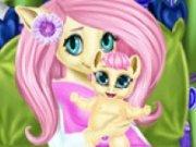 Poneiul Fluttershy Baby Birth