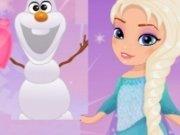 Baby Elsa si Olaf Imagini de colorat