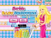 Barbie la cumparaturi pentru bebelusul ei