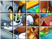 Tom si Jerry puzzle glisant