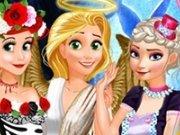 Ariel, Rapunzel si Elsa: Costume de Halloween