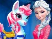 Elsa spala si imbraca Poneiul