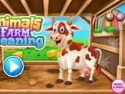 Curatenie in grajdul de la ferma