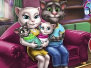 Talking Angela si Tom au copii gemeni