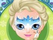 Picturi pe fata cu Baby Elsa