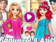 Rapunzel și Ariel intalnire cu printii