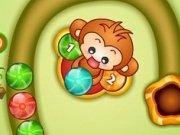 Zuma cu bomboane colorate si maimutica