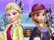 Elsa si Anna Rochii de Craciun