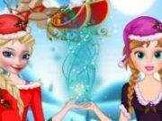 Elsa si Anna il ajuta pe Mos Craciun