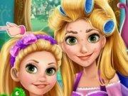 Machiaj pentru Rapunzel si fetita ei