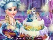 Joc de decorat tortul de nunta cu regina Elsa