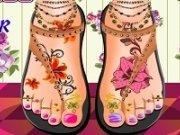 Pedichiura si tatuaj pe picior