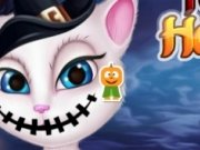 Talking Angela Machiaj de Halloween