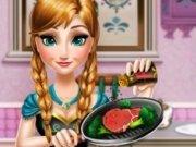 Printesa Anna gateste in bucatarie