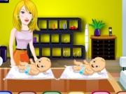 Joc Super mama de copii gemeni
