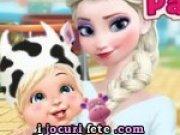 Elsa cu bebelusul in parc